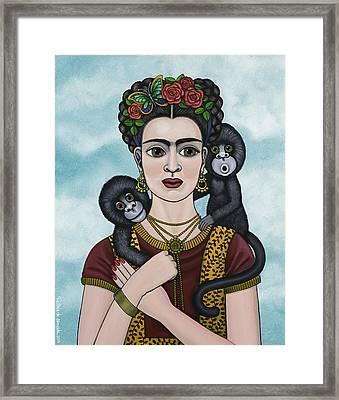 Frida In The Sky Framed Print by Victoria De Almeida