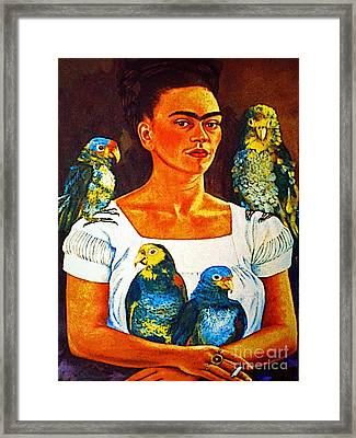 Frida In Tlaquepaque Framed Print by Mexicolors Art Photography