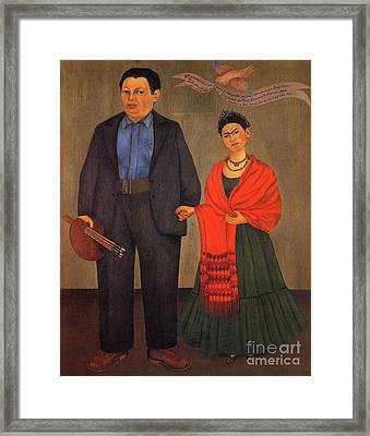 Frida Kahlo And Diego Rivera 1931 Framed Print by Pg Reproductions