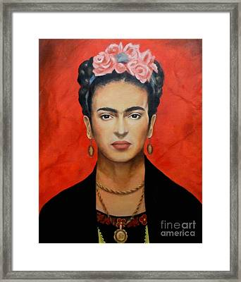 Frida Kahlo Framed Print by Elena Day