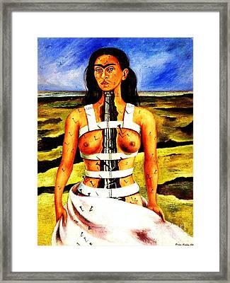 Frida Kahlo The Broken Column Framed Print by Pg Reproductions