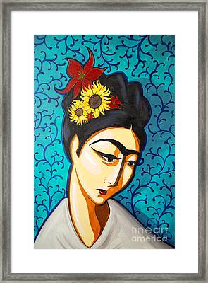 Frida Framed Print by Rebecca Mott
