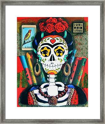 Frida With Flutes Framed Print by Candy Mayer