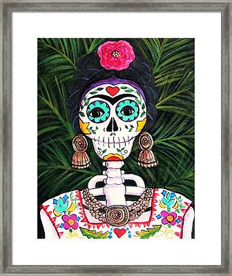 Frida With Palms Framed Print by Candy Mayer