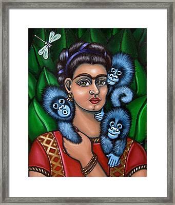 Fridas Triplets Framed Print by Victoria De Almeida