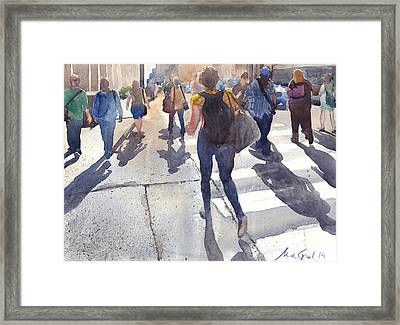 Friday Rush Framed Print by Max Good