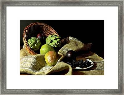 Friday's Basket Framed Print by Diana Angstadt