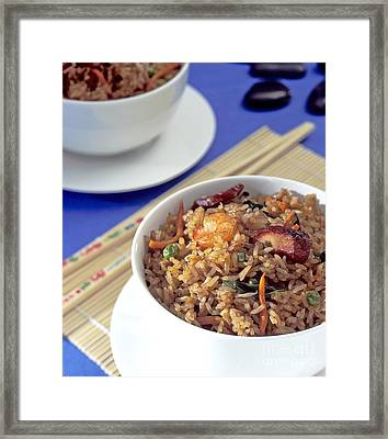 Fried Rice Framed Print by Tim Hester