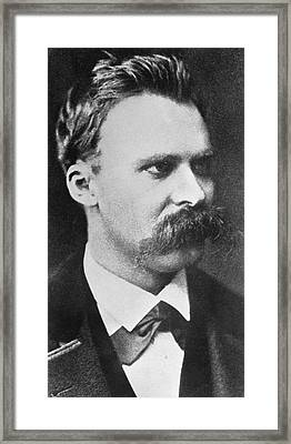 Friedrich Wilhelm Nietzsche Framed Print by French Photographer