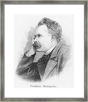 Friedrich Wilhelm Nietzsche Framed Print by French School