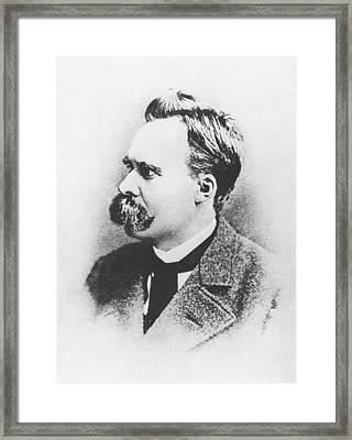 Friedrich Wilhelm Nietzsche In 1883 Framed Print by German Photographer