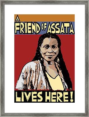 Friend Of Assata Framed Print by Ricardo Levins Morales