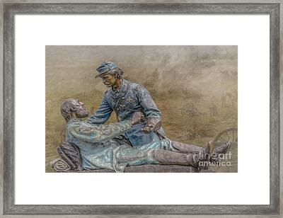 Friend To Friend Monument Gettysburg Version Two Framed Print by Randy Steele