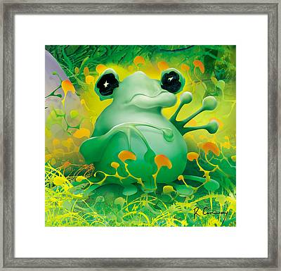 Friendly Frog Framed Print by Robert Conway