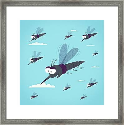 Friendly Mosquitos Framed Print by Mark Airs