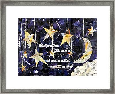 Friends Are Like Stars Framed Print by Paula Dickerhoff
