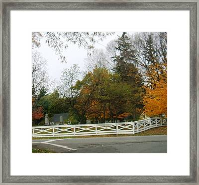 Friends Cemetery Framed Print by Suzanne Perry