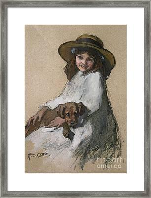 Friends Framed Print by Elizabeth Adela Stanhope Forbes