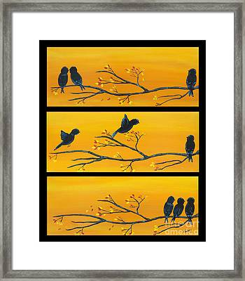 Friends In Time Of Need 2 Framed Print by Linda Fehlen