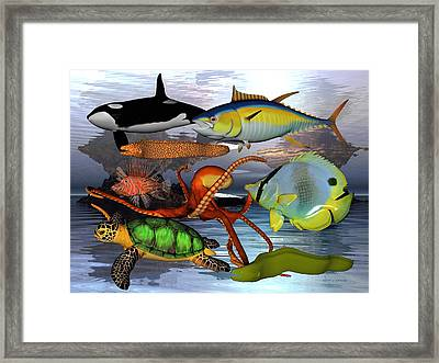Friends Of The Sea Framed Print by Betsy C Knapp