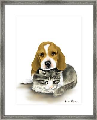 Friends Framed Print by Veronica Minozzi