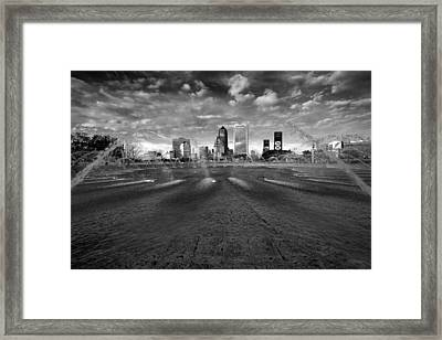 Friendship Fountain Bw Framed Print by Chris Moore