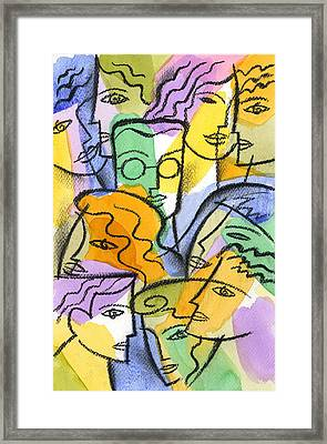 Friendship Framed Print by Leon Zernitsky