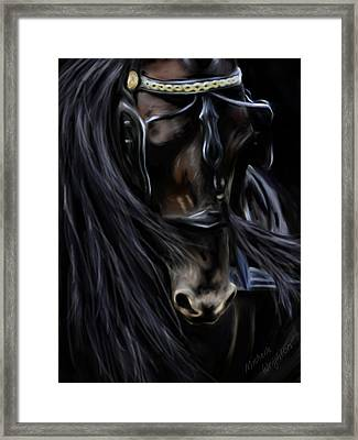 Friesian Spirit Framed Print by Michelle Wrighton