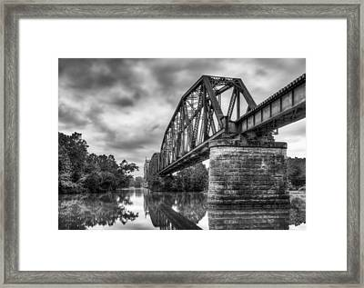 Frisco Bridge In Monochrome Framed Print by James Barber