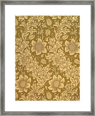 Fritillary Wallpaper Design Framed Print by William Morris