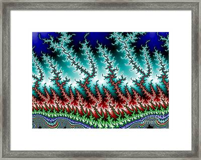 Frizzle Frazzle Fractal 1b Framed Print by Robert E Alter Reflections of Infinity