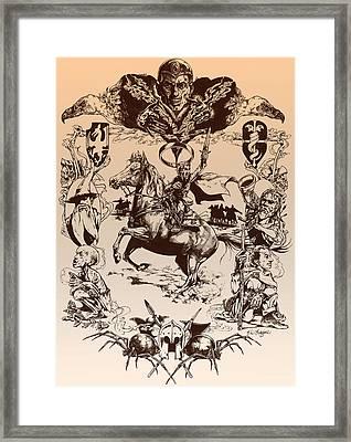 frodo- Tolkien appreciation Framed Print by Derrick Higgins
