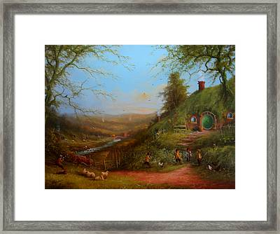 Frodo's Inheritance Bag End Framed Print by Joe  Gilronan