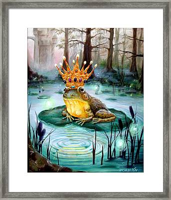 Frog Prince Framed Print by Heather Calderon
