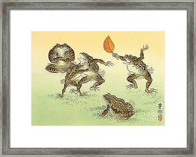 Frog Sumo Framed Print by Pg Reproductions