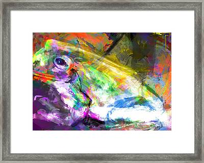 Frog Work Framed Print by James Thomas