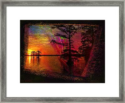 Froggy Morning Sunrise Framed Print by J Larry Walker