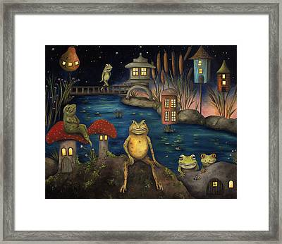 Frogland Framed Print by Leah Saulnier The Painting Maniac