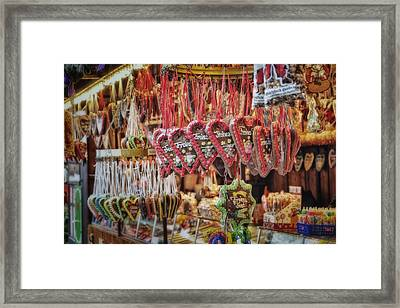 Frohes Fest Framed Print by Joan Carroll