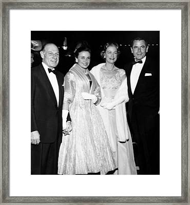 From Left, Leo Durocher, His Wife Framed Print by Everett