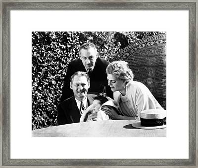 From Left, Lionel Barrymore, Holding Framed Print by Everett