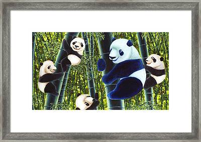 From Okin The Panda Illustration 1 Framed Print by Hiroko Sakai