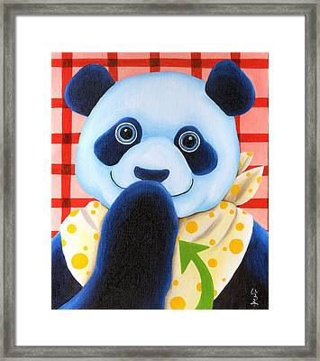 From Okin The Panda Illustration 11 Framed Print by Hiroko Sakai