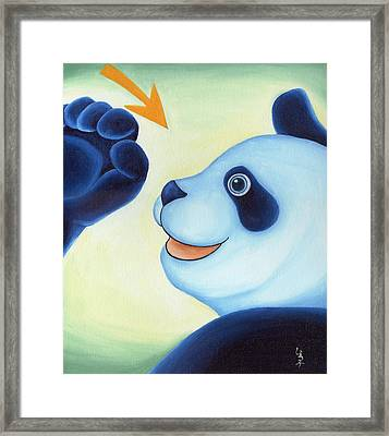 From Okin The Panda Illustration 12 Framed Print by Hiroko Sakai