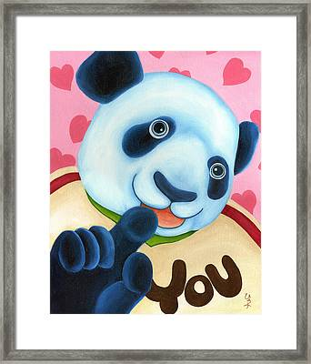 From Okin The Panda Illustration 16 Framed Print by Hiroko Sakai