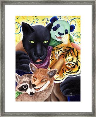 From Okin The Panda Illustration 17 Framed Print by Hiroko Sakai