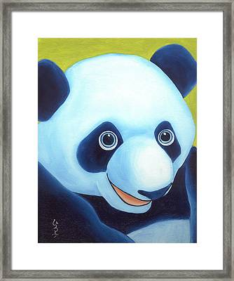 From Okin The Panda Illustration 2 Framed Print by Hiroko Sakai