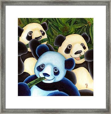 From Okin The Panda Illustration 3 Framed Print by Hiroko Sakai