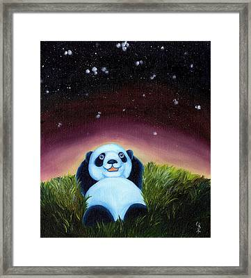 From Okin The Panda Illustration 5 Framed Print by Hiroko Sakai