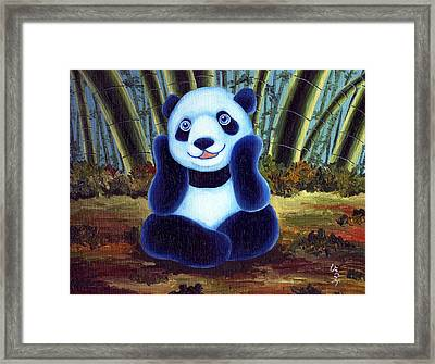 From Okin The Panda Illustration 6 Framed Print by Hiroko Sakai